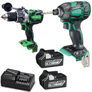Hitachi KC18DGL/JE 18v 2 Piece Drill Kit with 2 x 2.5 Ah Li-ion Batteries