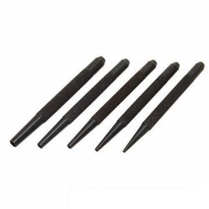 Silverline 5 Piece Nail Punch Set 1&frac12mm - 5mm