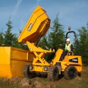 3 Tonne High Tip Swivel Skip Dumper